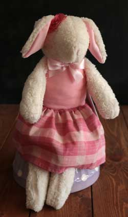 Large Lamb Girl - Pink Plaid