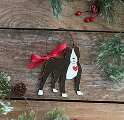 Pit Bull Personalized Ornament - Brown