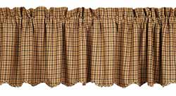 Millsboro Valance (Burgundy and Navy Plaid)