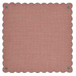 Independence Scalloped Table Cloth - 60 x 60 inch
