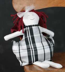 Black & White Plaid Small Valentine Girl