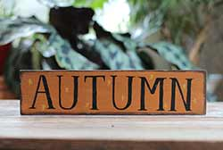 Autumn with Stars Wooden Sign