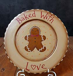 Baked With Love Gingerbread Decorative Plate