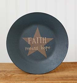 Faith Means Hope Plate with Star