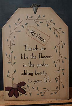 Friend are Life Flowers Oversized Tag Wall Art
