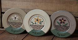 Flower Basket Plates (Set of 3)
