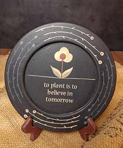 Wildflower Inspirational Plate - Believe in Tomorrow