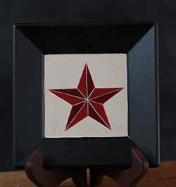 Barn Star Plate - Red Star, White Background