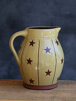 Redware Star Pitcher