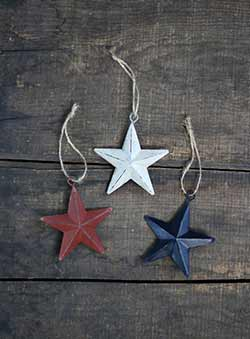 Americana 3 inch Star Ornaments (Set of 3)