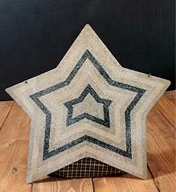 Striped Christmas Star Door Hanger