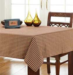 Patriotic Patch Plaid Tablecloth - 60 x 102