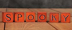 Spooky Hand-painted Wooden Blocks