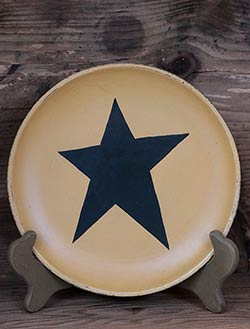Primitive Star Hand-painted Plate