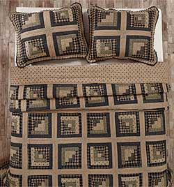 Brockton Cabin Black Quilt (Multiple Size Options)