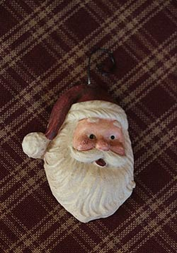 Resin Santa Ornament