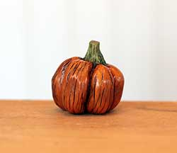 Miniature Pumpkin Sculpture - Medium