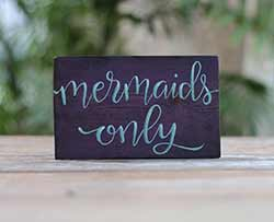 Purple Mermaids Welcome Sign