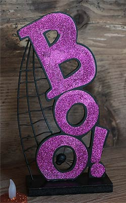Boo Halloween Table Sign