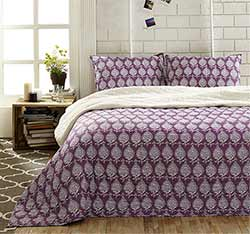 Priya Amethyst Quilt Set (Multiple size options)