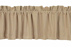 Farmhouse Solid Nutmeg Valance