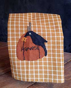 Crow and Harvest Pumpkin Fall Kitchen Towel