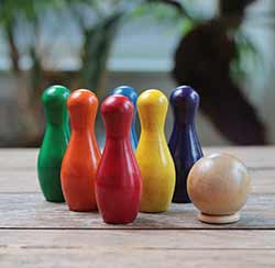 Rainbow Tabletop Bowling Set (Set of 8)