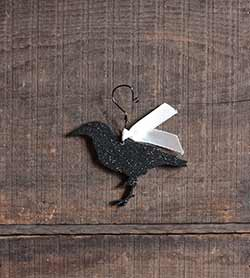 Crow Glitter Ornament