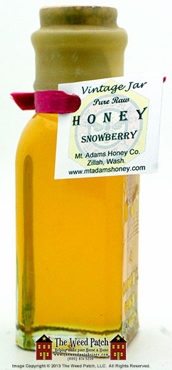Snowberry Honey in Vintage Glass Jar