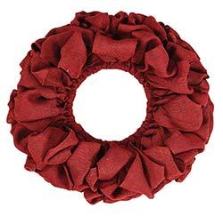 Burlap Wreath - Red (20 inch)