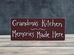 Grandma's Kitchen Wood Sign (Customization available)