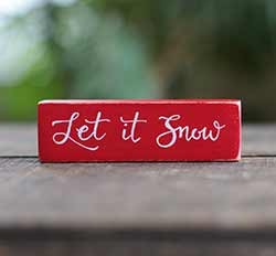 Let it Snow Shelf Sitter - Red