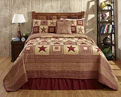 Colonial Red Star Quilt Set
