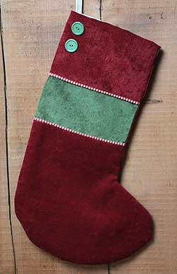 Red Chenille Stocking