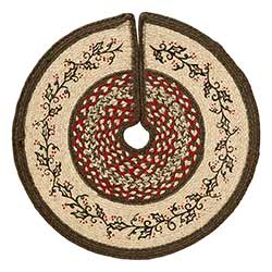 Holly Berry Jute Tree Skirt - Mini