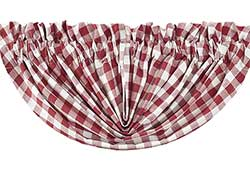 Buffalo Check Red Valance - Balloon
