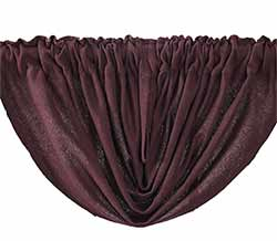 Tobacco Cloth Balloon Valance - Merlot