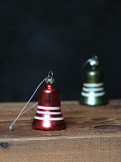 Vintage Mercury Bell Ornament, Red