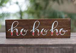 Ho Ho Ho Shelf Sitter Sign
