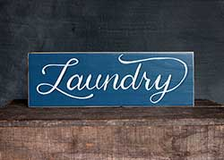 Retro Laundry Hand Lettered Wood Sign
