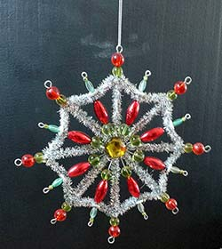 Tinsel Star Ornament