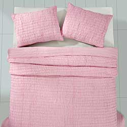 Rochelle Pale Pink Quilt Set (Multiple Size Options)