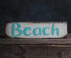 Rustic Beach Wood Sign