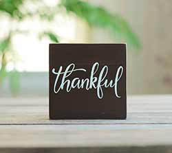 Thankful Shelf Sitter Sign