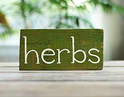 Herbs Wood Sign