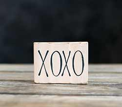 XOXO Sign Ornament