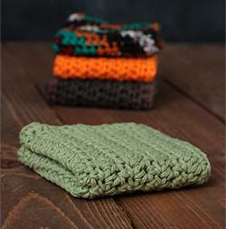 Sage Green Crochet Dish Cloth