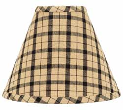Salem Check Black Lamp Shade - 12 inch