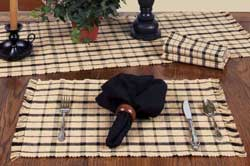 Salem Check Black Placemat
