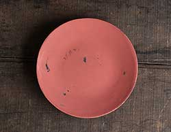 Distressed 6 inch Candle Plate - Coral Pink